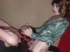 Sissy TGirl Slut Lucy gets spitroast by BBC and Sexy TG